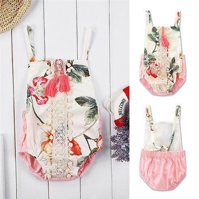 One-Pieces Newborn Baby Girls Sleeveless Romper Bodysuit Jumpsuit Floral Clothes
