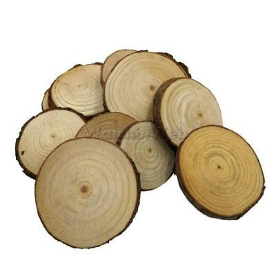 20pc Wooden Wood Log Slices Discs Round Decorative Rustic Wedding Pyrography