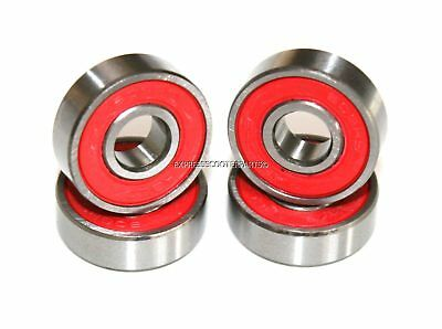 4 Pack! 608Rs Abec 9 608-2Rs Red Bearings For Push Stunt Micro Scooter Wheels