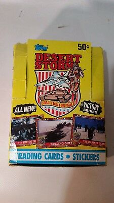 Topps Desert Storm Trading Cards Stickers Series 2 Victory Box of 36 + Extra Box