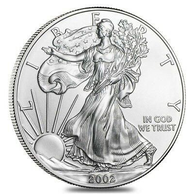 2002 1 oz Silver American Eagle Brilliant Uncirculated