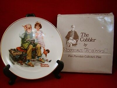"""Norman Rockwell """"The Cobbler"""" - 1984 Collectible plate"""
