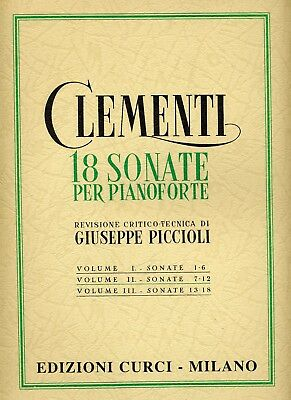 CLEMENTI - 18 SONATE Per Pianoforte - VOL. 2  - Ed. Curci