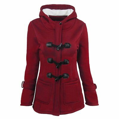 Women Warm Coat Jacket Outwear Trench Winter Hooded Long Parka Overcoat Tops LN