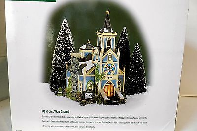 Dept 56 Deacon's Way Chapel New England Village Series Lighted