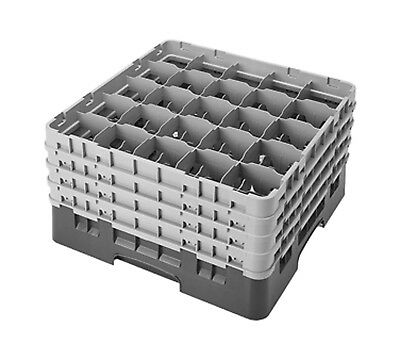 Cambro Camrack 25S900186 Full Size 25 Compartment Navy Blue Glass Rack with 4 Ex