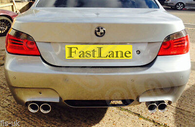 BMW 5 E60 Custom Built Stainless Steel Exhaust Rear Dual System B513