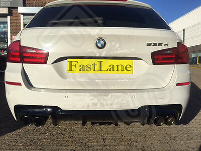 BMW 5 F11 Custom Built Stainless Steel Exhaust Rear Dual System and Diffuser B5