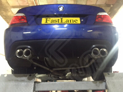 BMW 5 Series Custom Built Stainless Steel Exhaust Rear Dual System B518