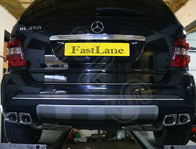 Mercedes Benz M Custom Built Stainless Steel Exhaust Cat Back Dual System ML07