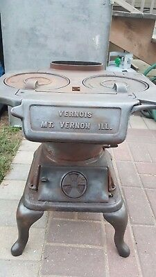 Vernois Cast Iron Wood Burning Stove - Antique