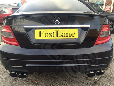 Mercedes C Custom Built Stainless Steel Exhaust Cat Back System AMG Tailpipes 08