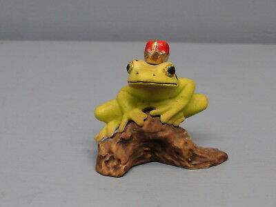 Old Hagen Renaker Specialty Stoneware Frog With Crown