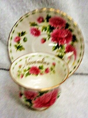 Royal Albert Flower Of The Month November  Cup and Saucer  1970