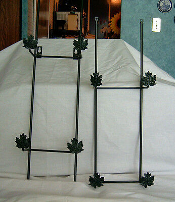 Dark Green with Leaves 4-Plate or Picture Hanger