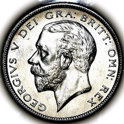 1927 King George V Great Britain Silver Proof Halfcrown 1/2 Crown PCGS PR65+