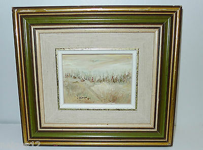"REPOS DU SOIR (EVENING REST)  4"" x 3"" FRAMED  OIL PAINTING.Signed"