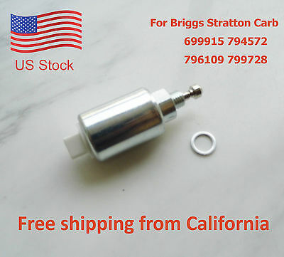 Carburetor Fuel Solenoid For Briggs & Stratton Carb 699915 794572 796109 799728