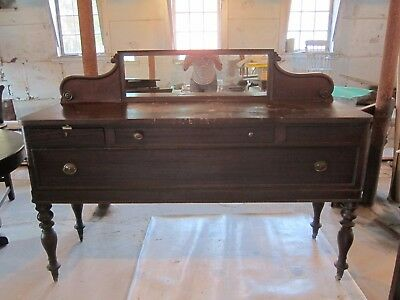 ******Antique Oak Carved Credenza Sideboard Buffet*****