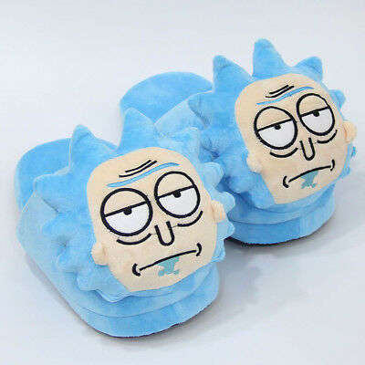 Rick and Morty MEESEEKS Cotton Slippers Soft Home Cartoon Plush Stuffed Slippers