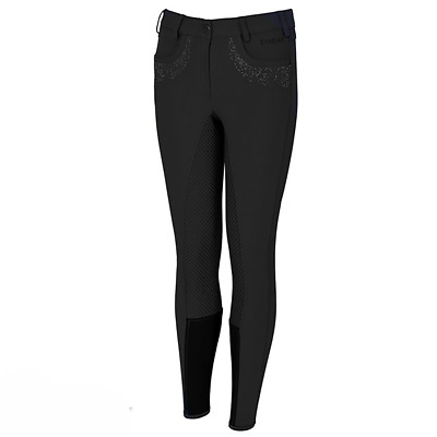 Pikeur Kalotta Girls Grip Full Seat Breeches - Black