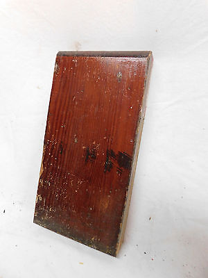 Antique Door Plinth Block Rosette - C. 1885 Yellow Pine Architectural Salvage