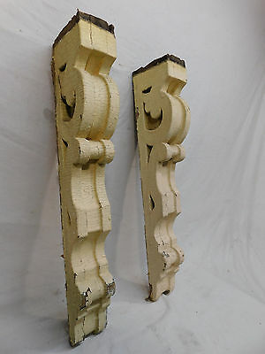 Two Victorian Style Scrolled Wood Corbels - C 1885 Fir Architectural Salvage