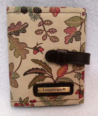 Longaberger AUTUMN PATH Credit Card / ID / Photo Wallet Holder