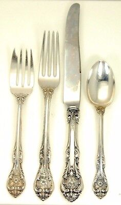 Lot 5 4 Pc. Gorham Sterling King Edward Place Setting No Reserve