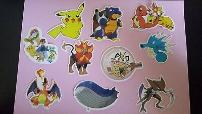 POKEMON sticker PACK OF 10 decal laptop wall unused uncut quality 5