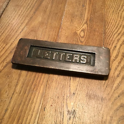 vintage door mail slot face plate