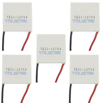 5pcs  TES1-12704 Peltier Module 30mm TEC Thermoelectric Cooling Heatsink 12V4A.