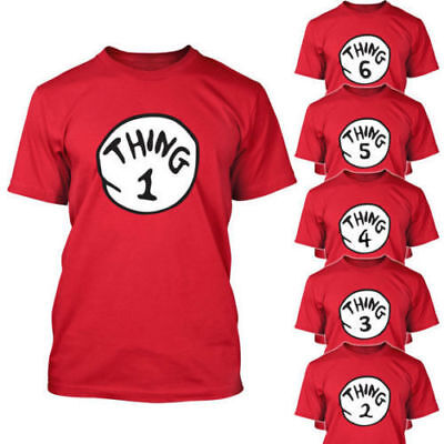 THING ONE 1 2 T SHIRT Kid YOUTH T-shirt children Birthday Dr. Seuss Party Teen