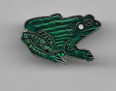 Vintage Green Frog b2 old enamel pin