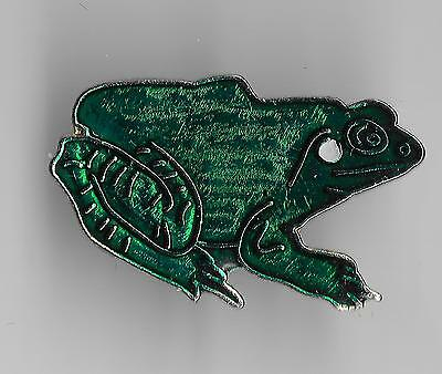 Vintage Green Frog lg old enamel pin