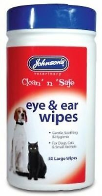 Johnsons Veterinary Products 19-0205 Ear and Eye Wipes Brand New