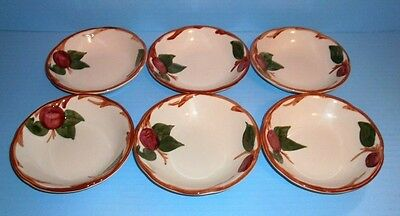 6 Franciscan Apple Berry Sauce Bowls Made in USA