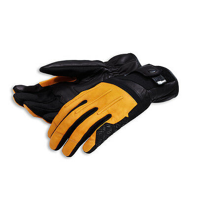 Ducati Scrambler Street Master Leather Gloves Leather Gloves Yellow NEW