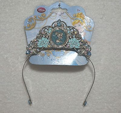DISNEY Cinderella Tiara Crown Girl One Size Silver & Jewels NEW