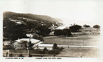 Australia Vintage Victoria Lorne Looking Along The Coast