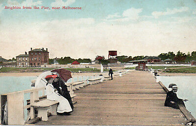 Australia Vintage Victoria Melbourne Brighton From The Pier