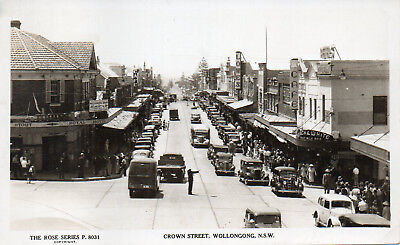 Australia Vintage New South Wales Wollongong Crown Street Rose