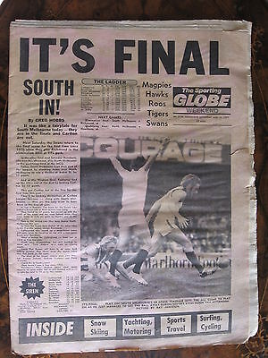 Sporting Globe    AUG 27 1977  3 cm rip right side through all pages