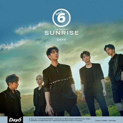DAY6 [SUNRISE] 1st Album CD+POSTER+Book+Card+Clear Cover Set+Lyrics+POP-UP CARD