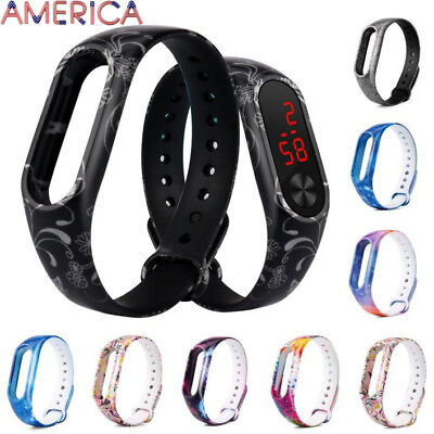 Replacement Silica Gel Wristband Band Strap For Xiaomi Mi Band 2 Bracelet US