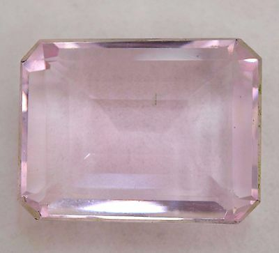 VVS 90.10 Ct Shiny Pink Morganite GGL Certified Emerald Cut AAA+ Gem Stone