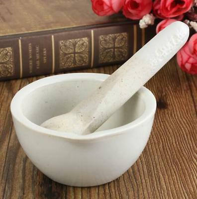 6ML 60MM Porcelain Mortar and Pestle Mixing Grinding Bowl Set DIY Tool White