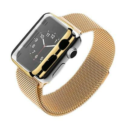 Stainless Steel Bracelet Strap Band +Cover Case For Apple Watch Series 2 38mm GD