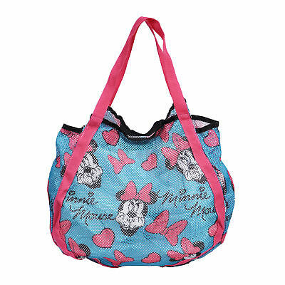 Disney Minnie Mouse Blue Beach Tote Bag Mesh
