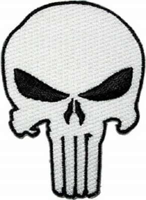 The Punisher Skull Embroidered Iron On Patch super hero